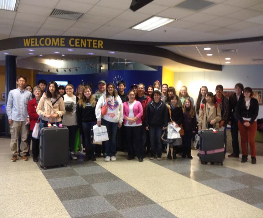 The Takaoka exchange students return to Fort Wayne.