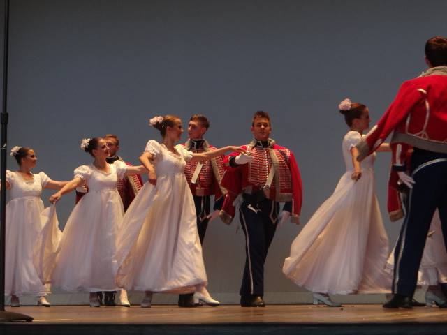 The Wisła Dancers from Płock, Poland performing at the Foellinger Theatre.