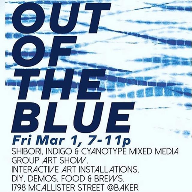 Tonight! I've got a little piece in this show that was dyed with natural indigo.