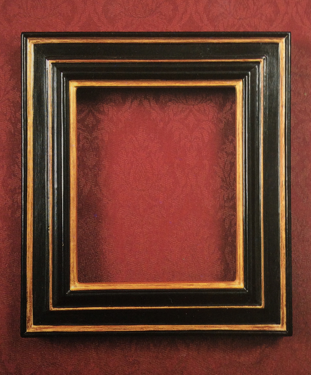 I also created all my own custom-made frames for each of my house and garden portraits. These were gessoed, ebonised, gilded, waxed and distressed to resemble European frames from the mid 17th century.