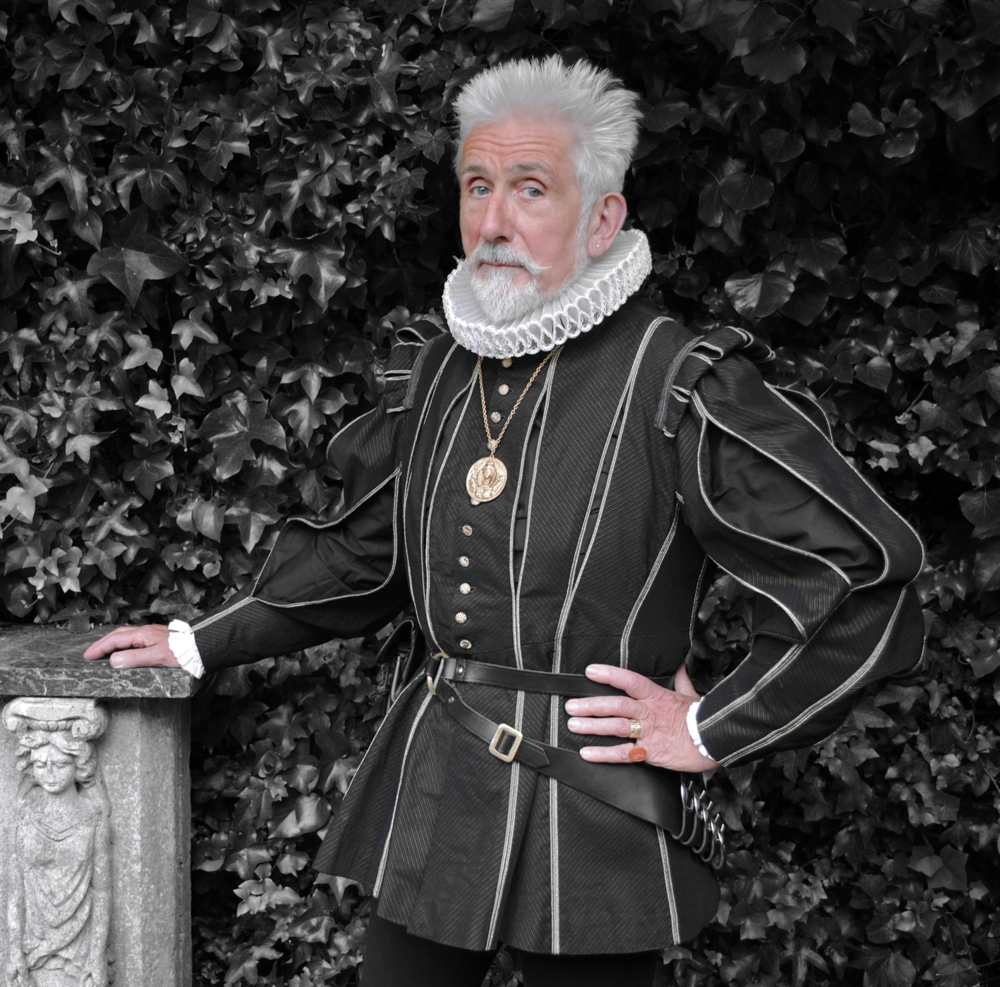 Sir Roy Strong photographed in Elizabethan costume by Jonathan Myles-Lea, 2010.