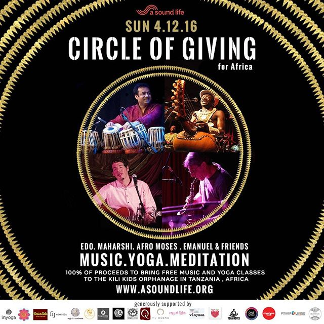 Last kirtan for the year with amazing musicians to create a very special Circle Of Giving event with music, meditation and yoga to raise money for the Kili Kids Orphanage in Tanzania. Sunday Dec 4 in Bondi - www.asoundlife.eventbrite.com.au @maharshi_raval @sophiepalmeryoga