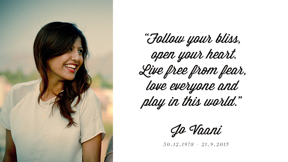 In loving memory of Jo Vaani Mall-Kahn...