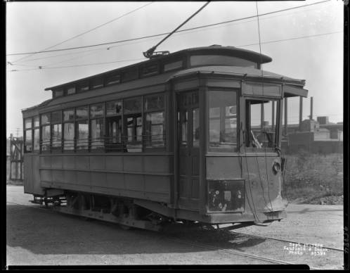 Portland and Shelby Street streetcar, Louisville, Kentucky, 1928.