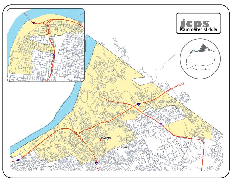 Kammerer Middle School Resides Area Map