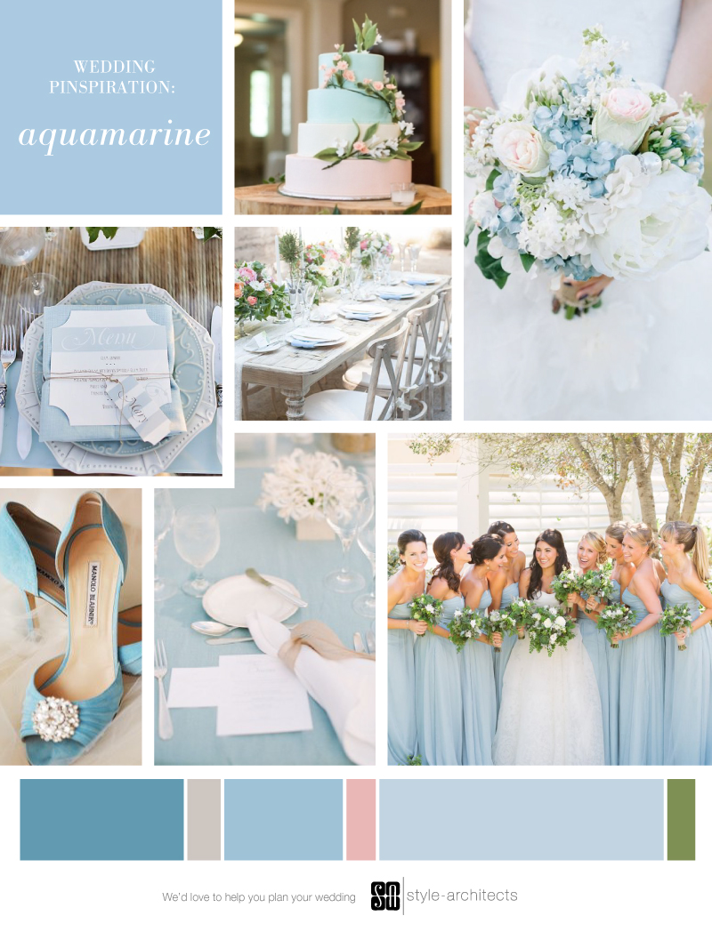 Wedding Pinspiration: Aquamarine via Style-Architects Weddings