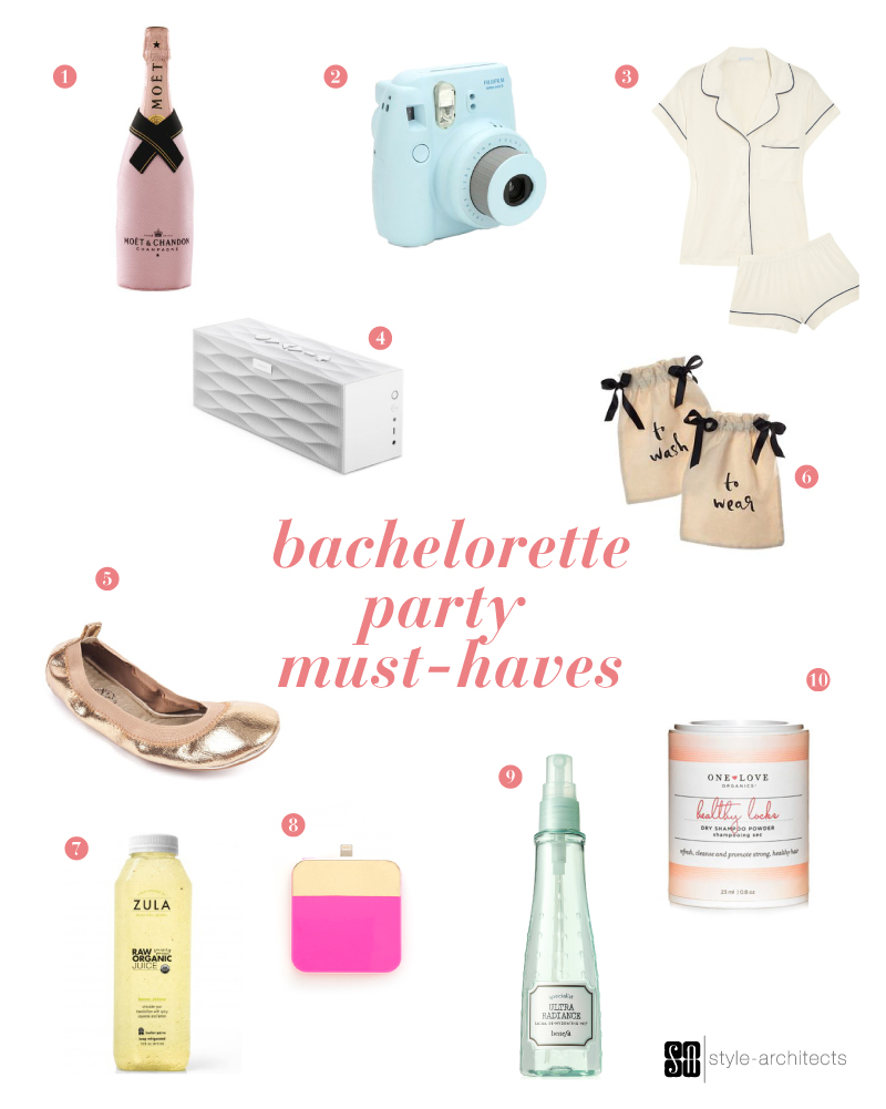 Bachelorett Party Must-Haves via Style-Architects Weddings