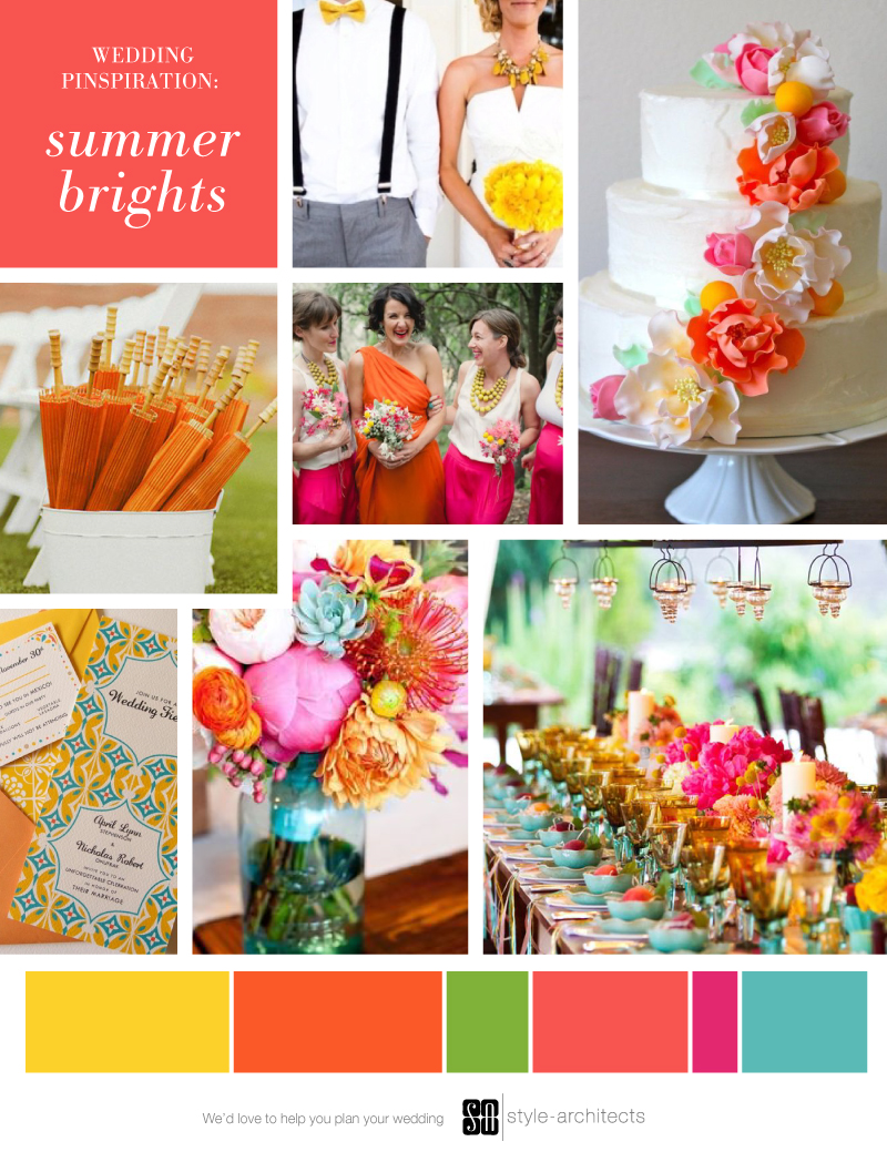 Wedding Pinspiration: Summer Brights via Style-Architects Weddings