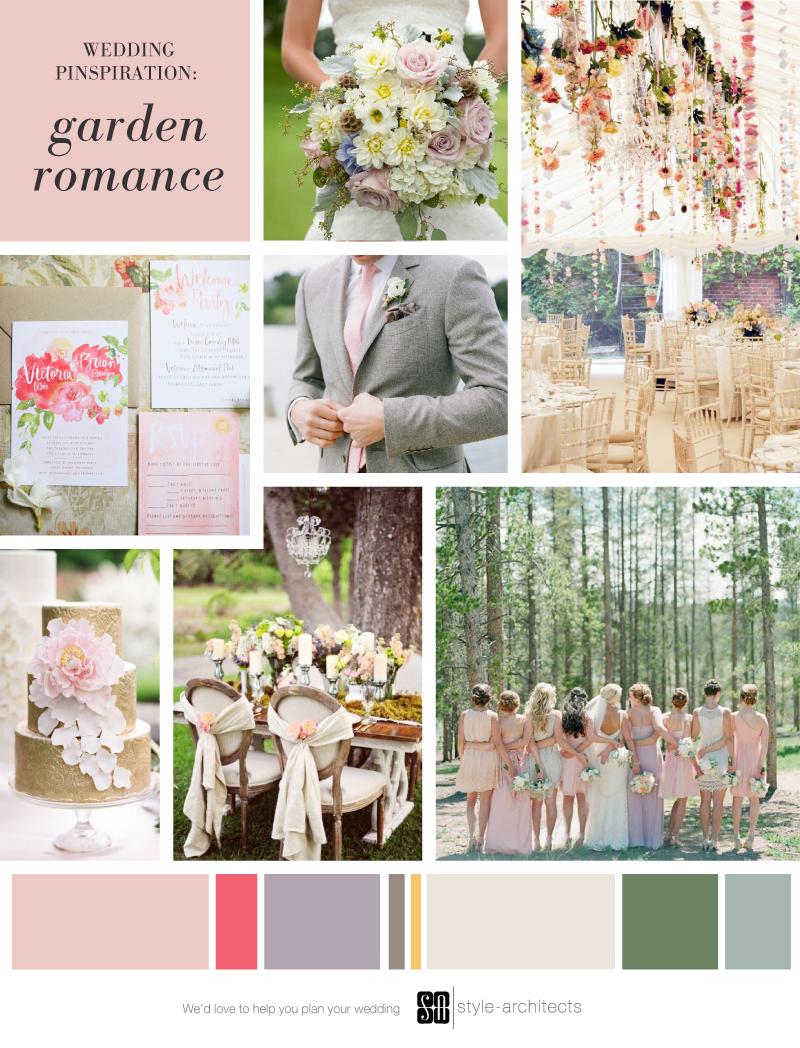 Wedding Pinspiration: Garden Romance