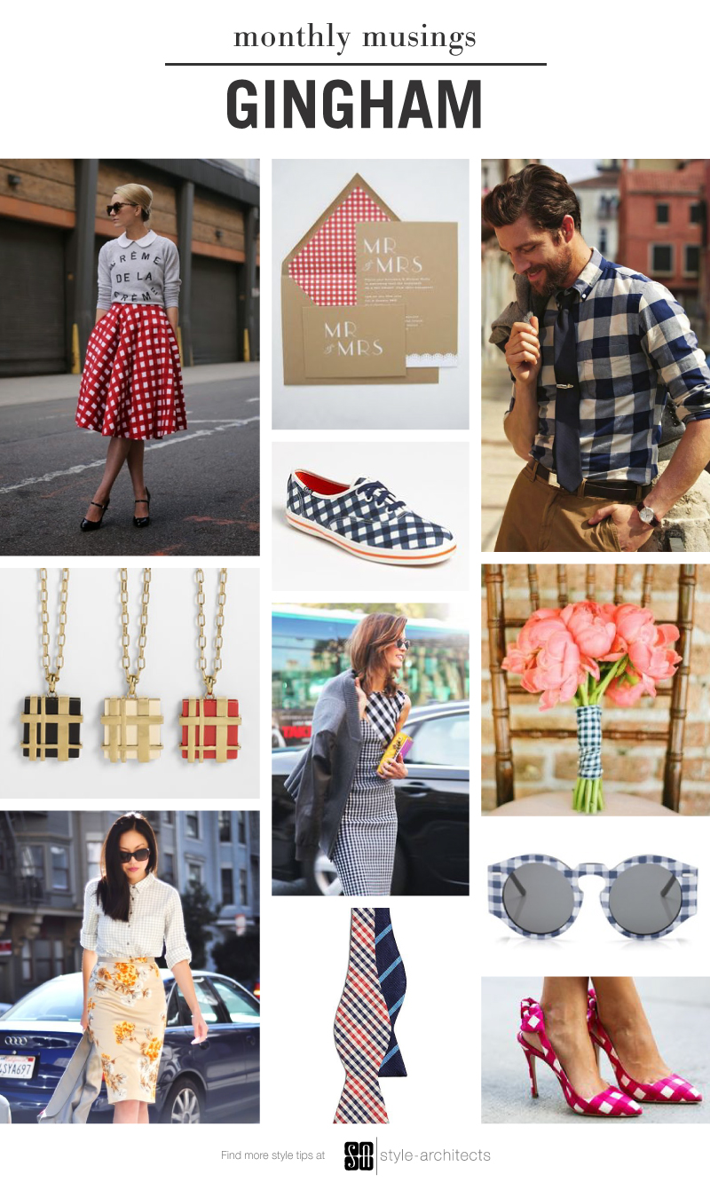 Monthly Musing: GIngham via Style-Architects