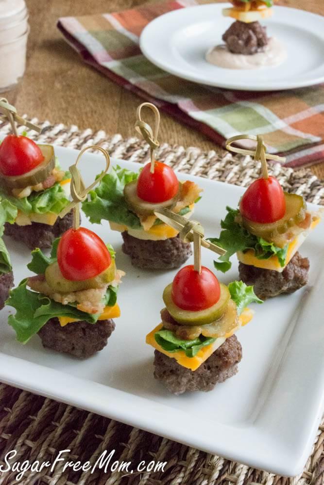 Bun-less Cheeseburger Bites
