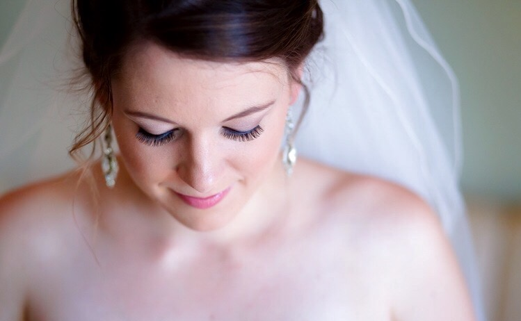 Bride Hayley wearing MAC face and body foundation