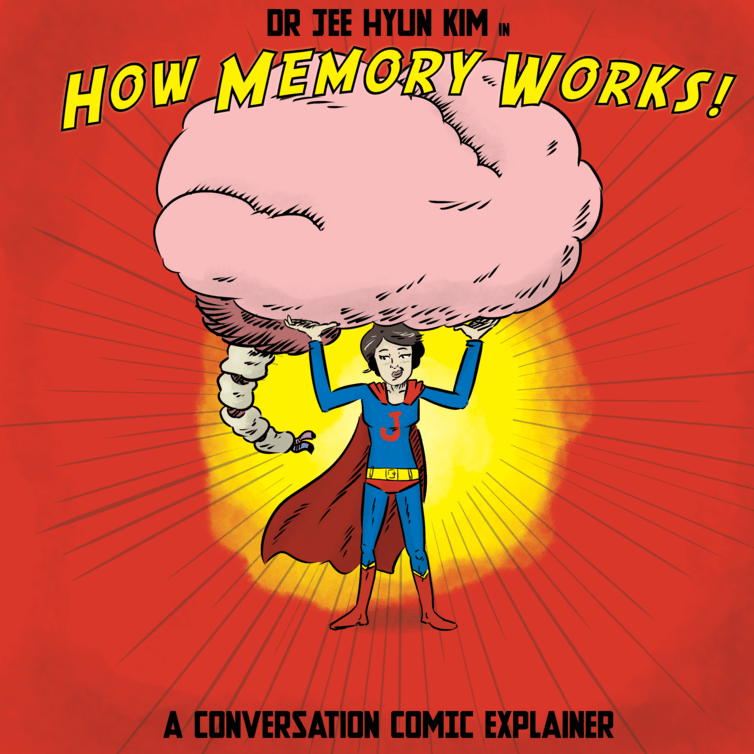 From a  long-form comic  on how memory works at The Conversation, a collaboration with the Florey Institute's Dr Jee Hyun Kim. Co-published with  the ABC .