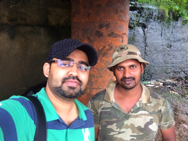 Selfie with Sudheesh Thattekad, the birding guide