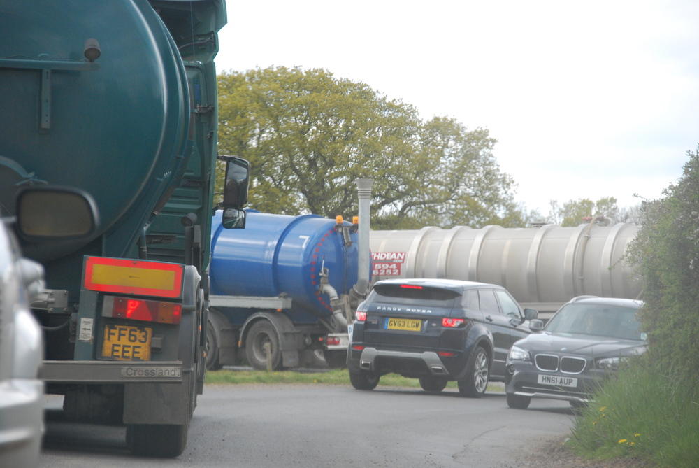 Entrance to Crouchland Biogas around 3pm today