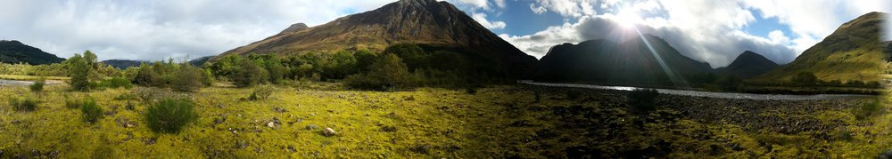 Glencoe, not far from Signal Rock.