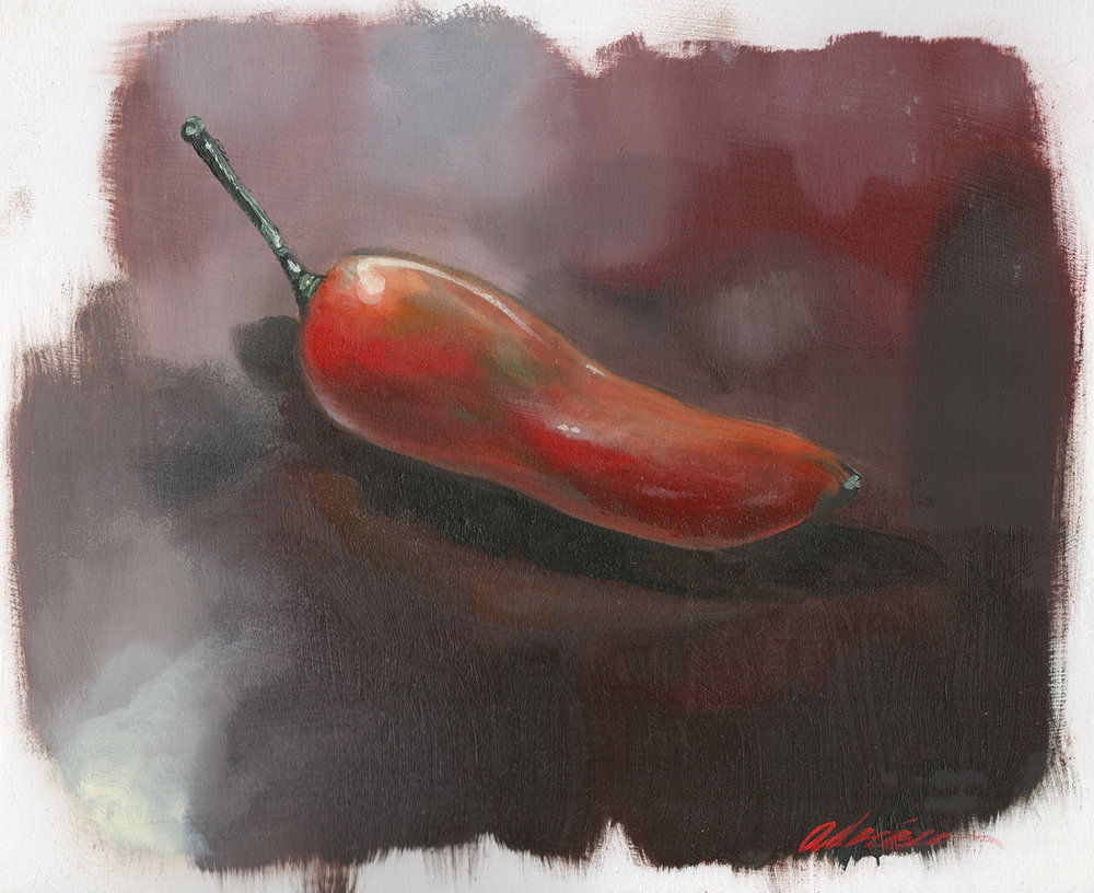 Still Life of Red Jalepeno