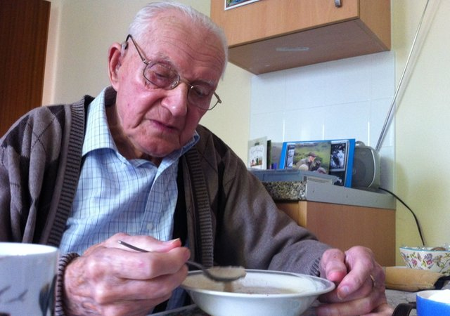 95-year-old Cyril Gillam no longer gets home help visits