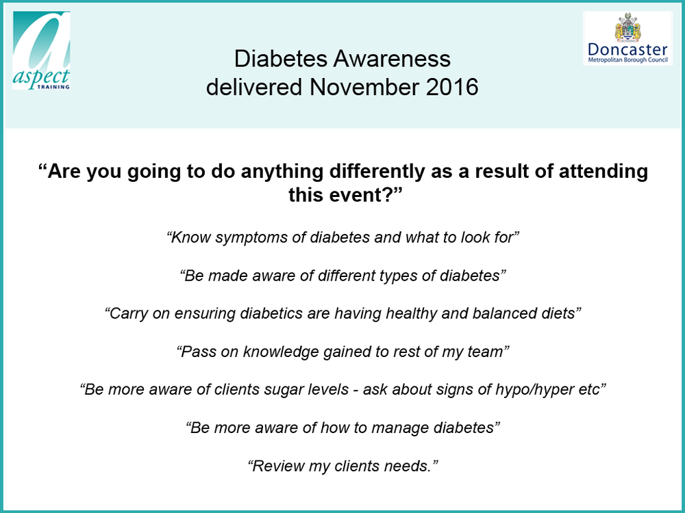diabetes training doncaster