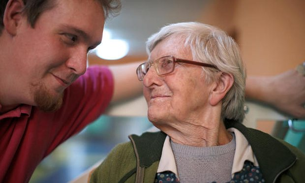 A quarter of young men say they would never consider becoming a care worker – how can we change this? Photograph: Alamy