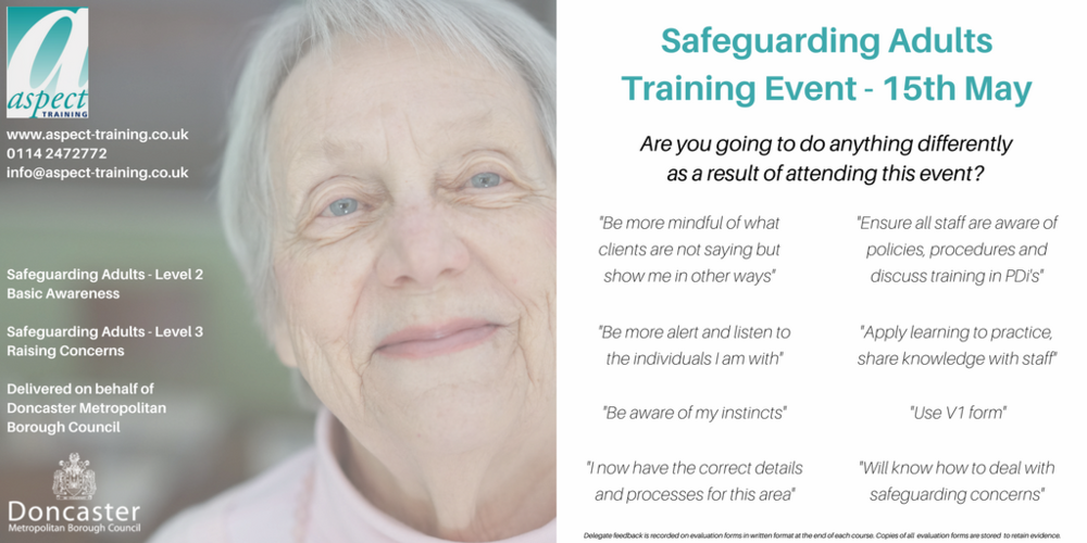 safeguarding adults training doncaster
