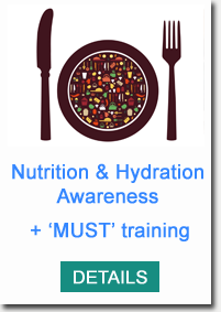 Contact us today on  0114 2472772  or  info@aspect-training.co.uk  to find out how we can support you with improving Nutrition & Hydration for the individuals you support.  We can also show you how to use the MUST tool.  Click  here  to see the course outline.