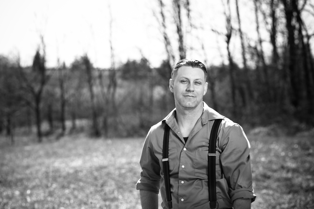 Vintage male at Heritage Park Blacksburg Virginia Portrait and Wedding Photographer Bent-Lee Carr