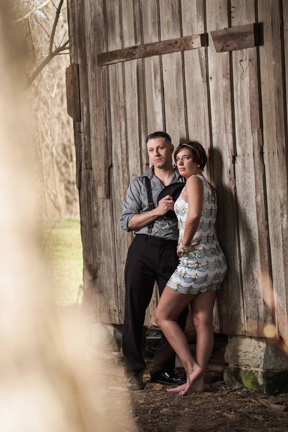Vintage engagement session Blacksburg Virginia Portrait and Wedding Photographer Bent-Lee Carr