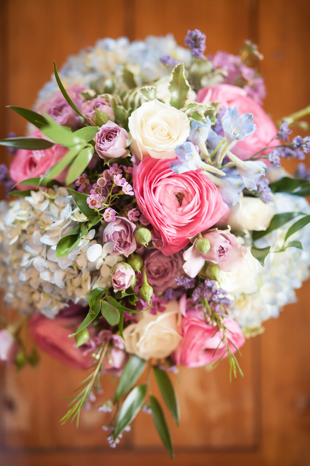 Wedding bouquet for the bride at L'auberge Provencale near Winchester, Virginia