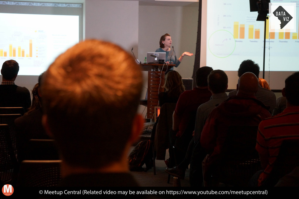 Amy Cesal talking about the Data Visualization Style Guidelines and DataViz DC