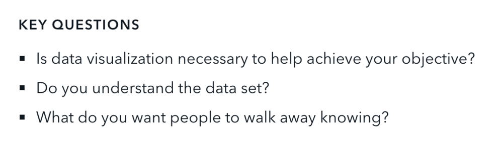 data viz key questions