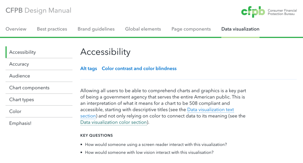 CPFB data visualization accessibility