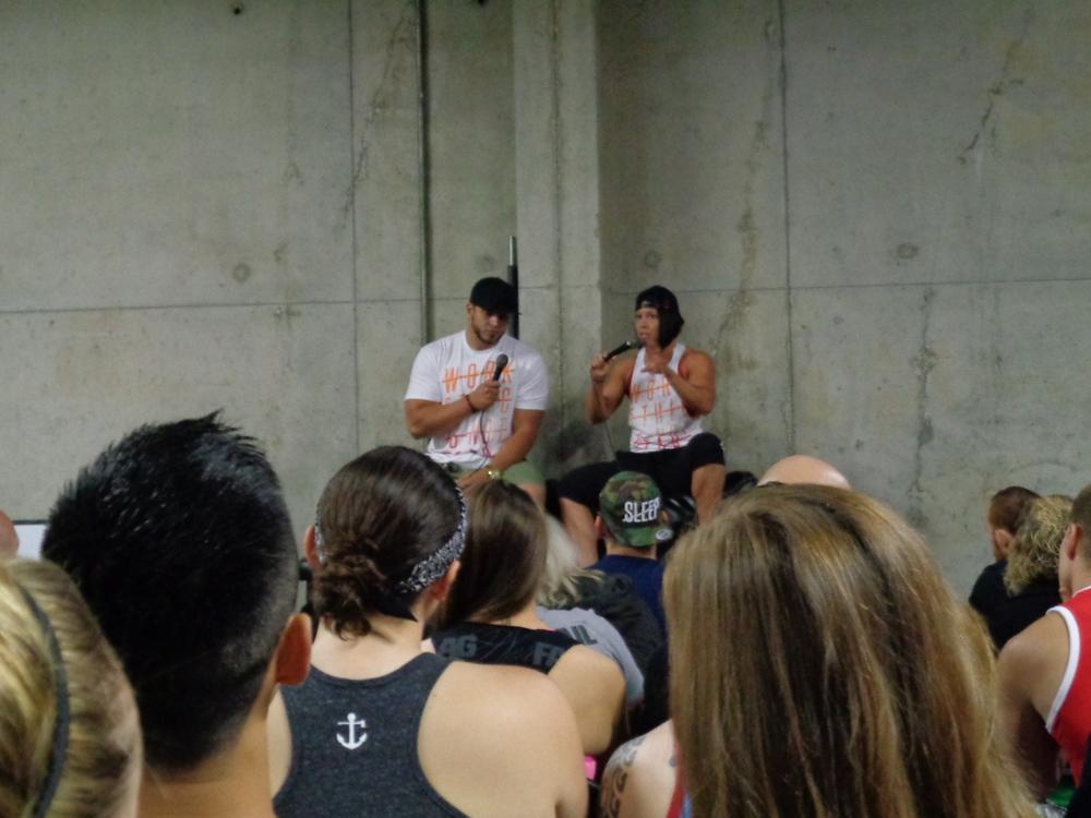 Dana & Rob giving their bio...was really good! So down to earth.