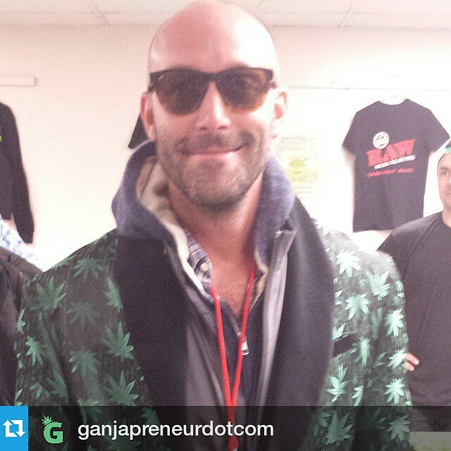 Happy 420!  Schwag co-founder representing at Cannabis Cup 2015 #Repost @ganjapreneurdotcom ・・・ Ganjapreneur.com CEO Andrew in his #HIGHTIMES #CannabisCup #VIP smoking jacket.