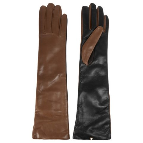 Valentino çift renk deri eldiven, $525