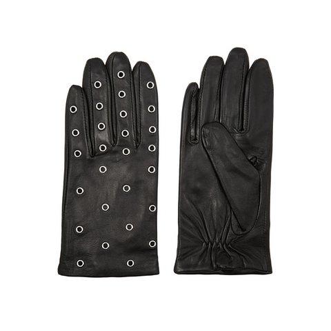 Sandro Anael zımba işlemeli deri eldiven, $58