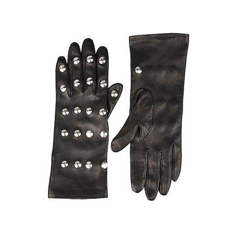 Balenciaga metal stud baskılı deri eldiven, $1,185