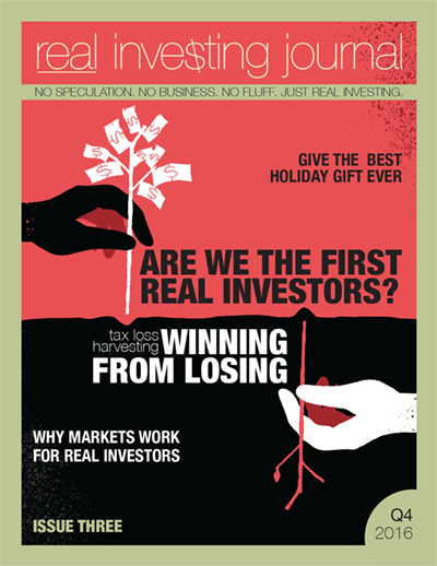 Q4 issue of real investing journal will mailed in late November (standard postage can take two weeks)