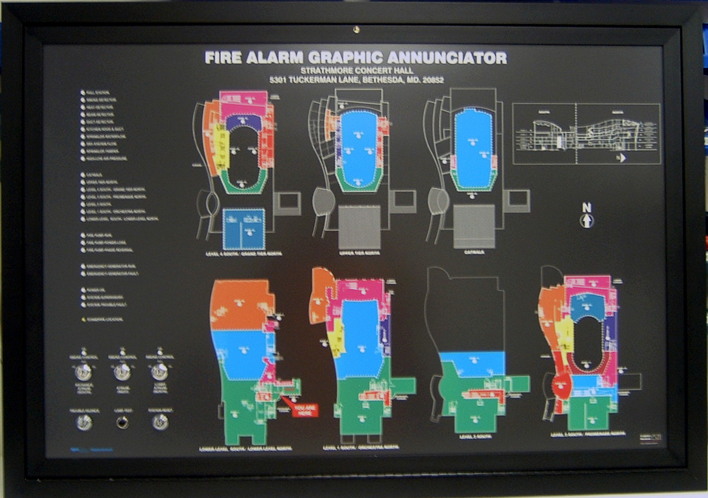 Fire Alarm Mimic Panel