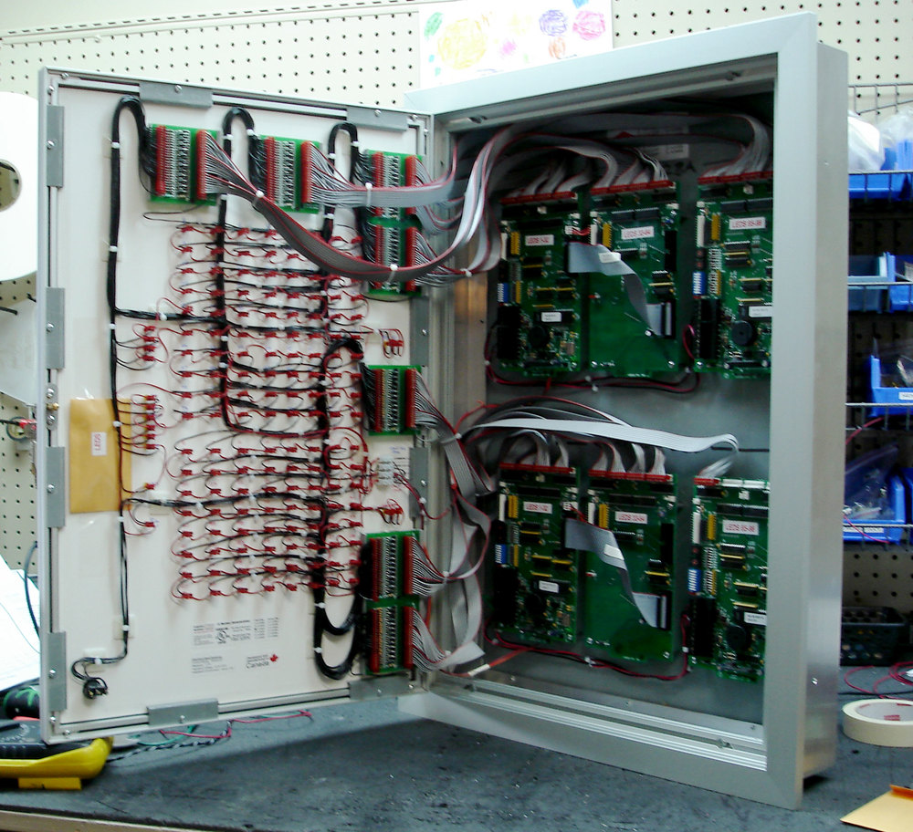 Graphicannunciators on simplex fire alarm wiring
