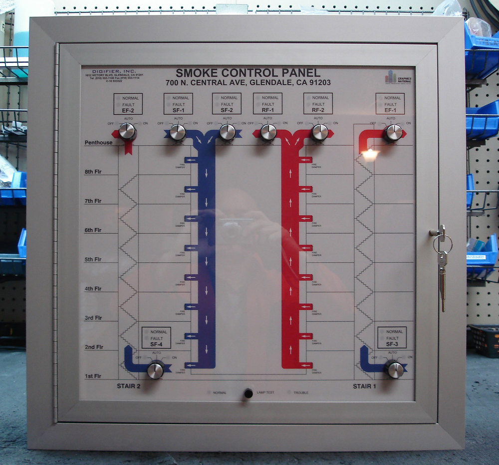 graphics national  smoke control panels