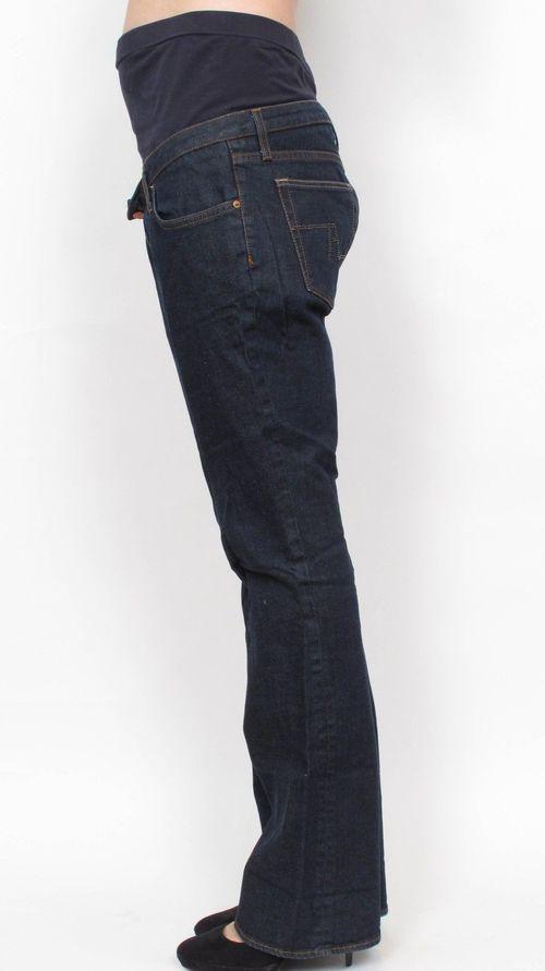 8d5741c2196c0 Zara Mum Dark Blue Boot Cut Maternity Jeans 30 x 34 — She & Wolf