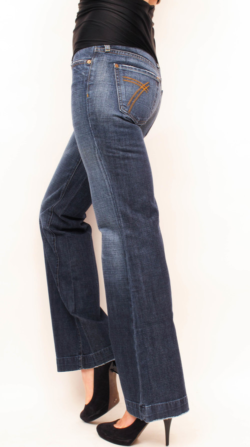 1ae1c5ca48cf1 7 For All Mankind Dojo Flare Maternity Jeans 24 x 27 — She & Wolf