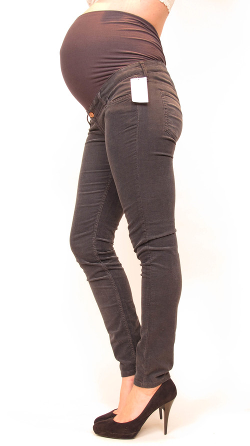 H&M Mama Gray Corduroy Skinny Maternity Jeans — She & Wolf ...