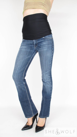 6a74371d613e8 7 For All Mankind Straight Maternity Jeans 27 x 31