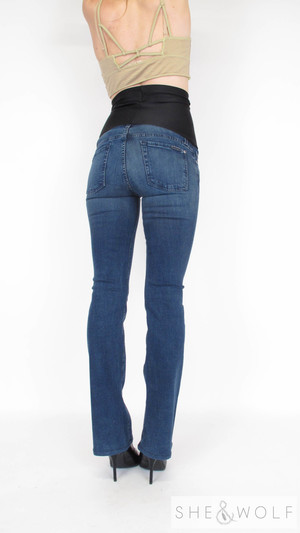 5c87a0c1bf108 7 For All Mankind Bootcut Maternity Jeans 26 x 32