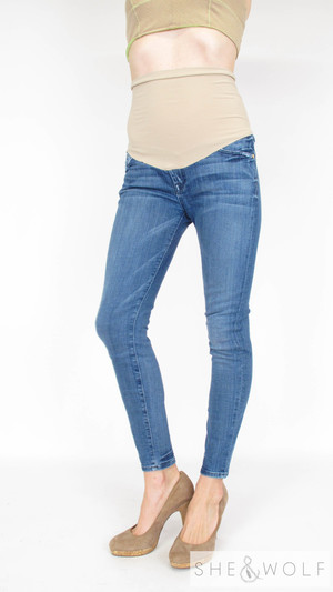 99fcb2da68d5d 7 For All Mankind Skinny Maternity Jeans 30 x 28
