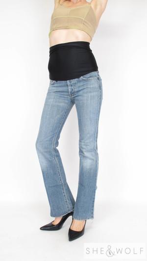 6dc2c75984c2b 7 For All Mankind Boy Cut Maternity Jeans 27 x 32
