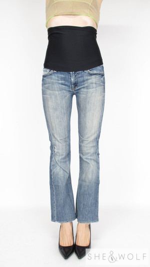 a15a3ec8de39d 7 For All Mankind Bootcut Maternity Jeans 27 x 30