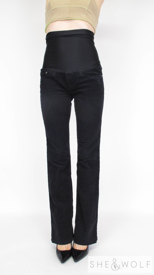 AG Corduroy Flare Maternity Jeans 28 x 33.5 — She & Wolf Maternity ...